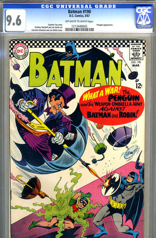 Batman #190   CGC graded 9.6 - Penguin story - SOLD