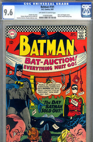 Batman #191   CGC graded 9.6 - SOLD