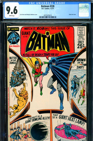 Batman #228 CGC graded 9.6 - white pages - Giant