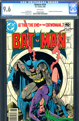Batman #324 CGC graded 9.6  Catwoman cover/story - SOLD!