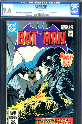 Batman #331 CGC graded 9.6 - Talia appearance