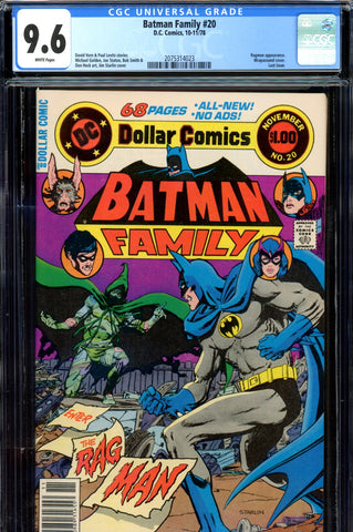 Batman Family #20 CGC graded 9.6 - last issue