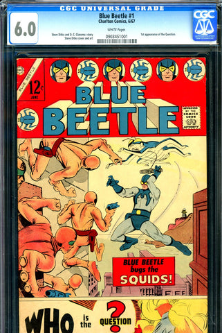 Blue Beetle #1 CGC graded 6.0 - first appearance of the Question - 1967 - SOLD!