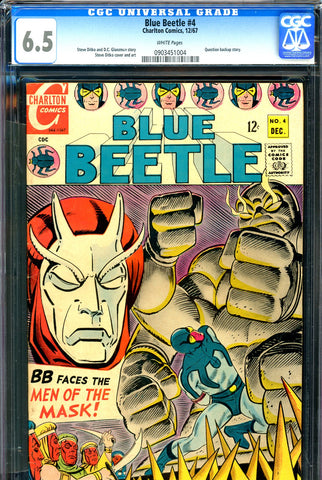 Blue Beetle #4 CGC graded 6.5 - white pages - Question backup story