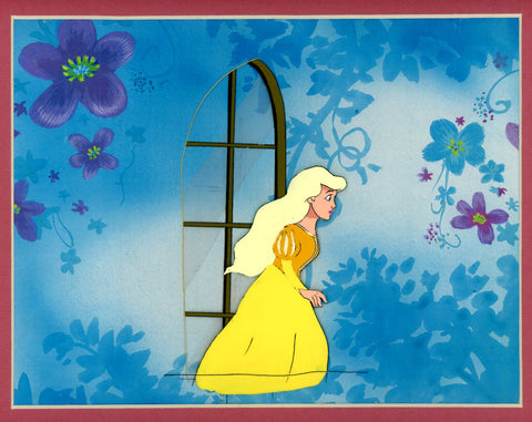 "Original production cel -""Beauty & the Beast""- by Golden Films 073 MATTED"