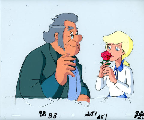 "Original production cel -""Beauty & the Beast""- by Golden Films 080 LARGE"