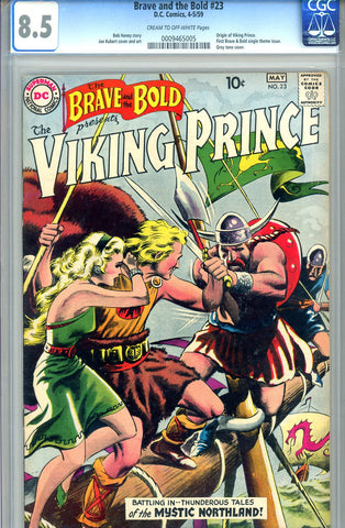 Brave and the Bold #23   CGC graded 8.5  Org Viking Prince - SOLD!
