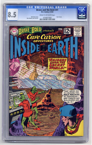 Brave and the Bold #41  CGC graded 8.5   Cave Carson - SOLD!