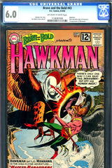 Brave and the Bold #43 CGC graded 6.0 first Manhawks
