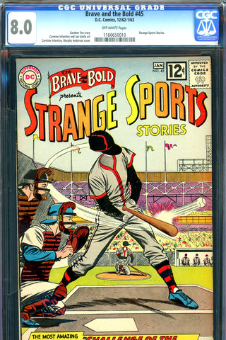 Brave and the Bold #045 CGC graded 8.0 first tryout issue