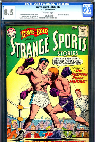 Brave and the Bold #047 CGC graded 8.5 Strange Sports Stories