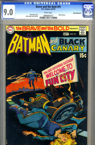 Brave and the Bold #91   CGC graded 9.0 - pedigree SOLD!