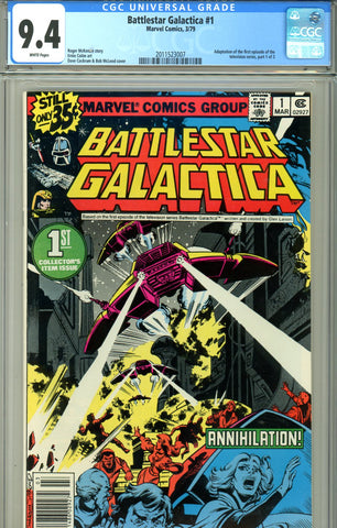 Battlestar Galactica #1 CGC graded 9.4 white pages SOLD!