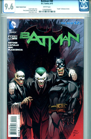 Batman #40  CGC graded 9.6 - Kubert Variant Cover SOLD!
