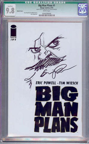 Big Man Plans #1  CGC graded 9.8 - Sketch Cover - HIGHEST - SOLD!