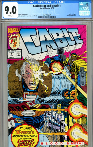 Cable: Blood and Metal #1 CGC graded 9.0 vs Stryfe