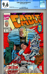 Cable: Blood and Metal #2 CGC graded 9.6 - wraparound cover