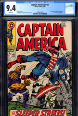 Captain America #102 CGC graded 9.4 white pages
