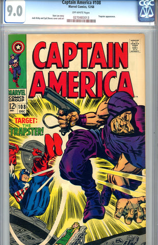 Captain America #108  CGC graded 9.0 - SOLD!