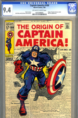 Captain America #109   CGC graded 9.4 - SOLD