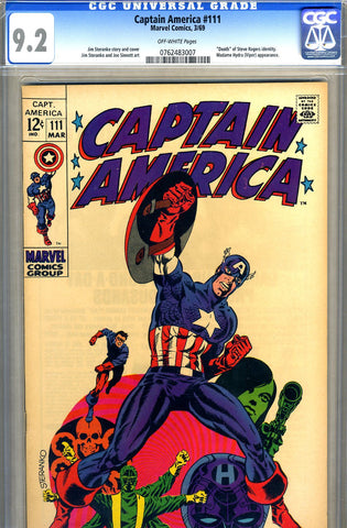 Captain America #111   CGC graded 9.2 - SOLD