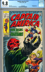 Captain America #115   CGC graded 9.8  HIGHEST GRADED