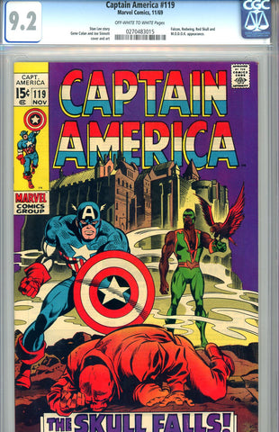 Captain America #119  CGC graded 9.2 - SOLD!