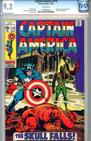 Captain America #119  CGC graded 9.2 - WP - SOLD!