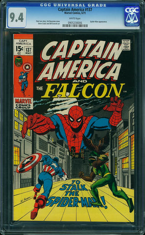 Captain America #137  CGC graded 9.6 white pages - SOLD!