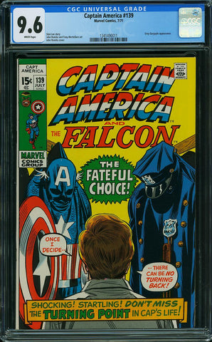 Captain America #139  CGC graded 9.6  white pages - SOLD!