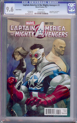 Captain America & the Mighty Avengers #1  CGC graded 9.6 - Variant Ed - SOLD!