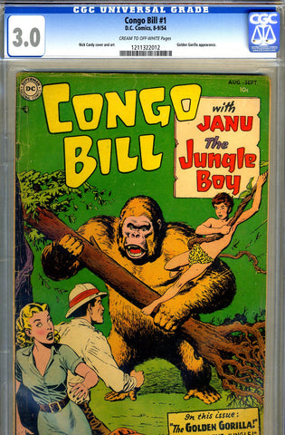 "Congo Bill #1   CGC graded 3.0 - listed as ""SCARCE"" SOLD!"