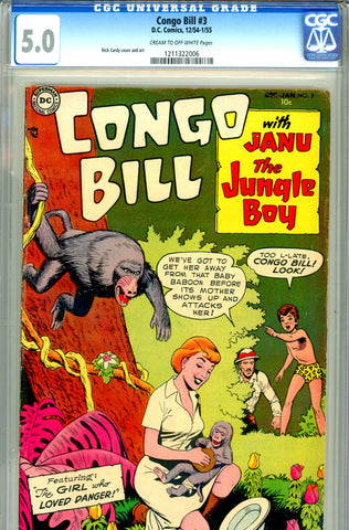 "Congo Bill #3   CGC graded 5.0 - listed as ""SCARCE""  SOLD!"