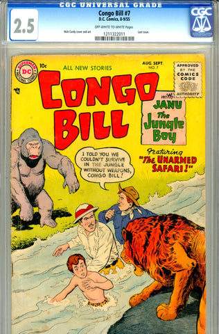 "Congo Bill #7   CGC graded 2.5 - listed as ""SCARCE"" SOLD!"