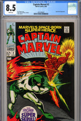 Captain Marvel #02 CGC graded 8.5 white pages