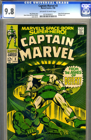 Captain Marvel #03   CGC graded 9.8 - HIGHEST GRADED - SOLD!