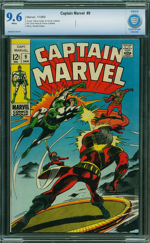 Captain Marvel #09  CBCS graded 9.6  white pages  SOLD!