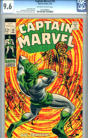 Captain Marvel #10   CGC graded 9.6  SOLD!