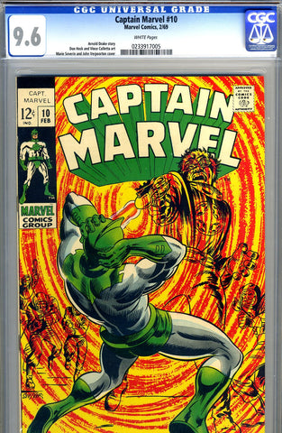 Captain Marvel #10   CGC graded 9.6 - white pages - SOLD!