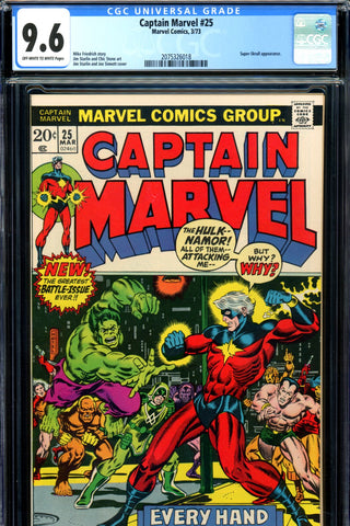 Captain Marvel #25 CGC graded 9.6 - third ever Thanos  SOLD!