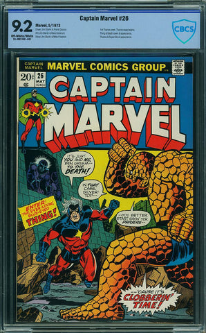 Captain Marvel #26 CBCS graded 9.2 first Thanos cover - SOLD!