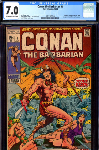 Conan the Barbarian #01 CGC graded 7.0 - origin/1st app SOLD!