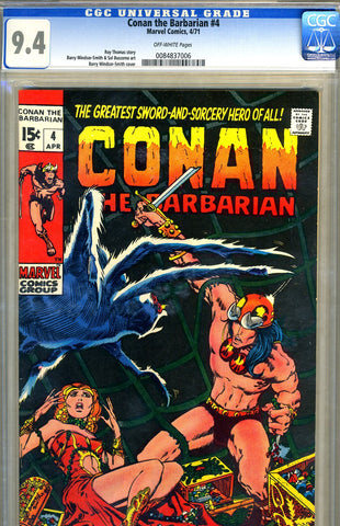 Conan the Barbarian #04   CGC graded 9.4 - SOLD