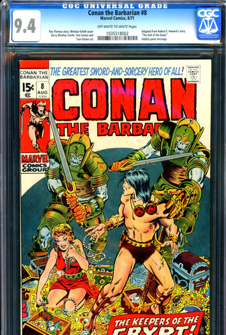 Conan the Barbarian #08 CGC graded 9.4  Barry W. Smith c/a - SOLD!