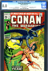 Conan the Barbarian #09 CGC graded 8.0  Barry W. Smith c/a