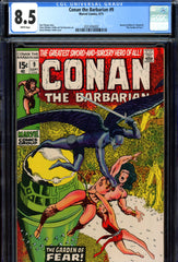 Conan the Barbarian #09 CGC graded 8.5 white pages