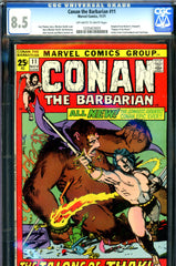 Conan the Barbarian #11 CGC graded 8.5  square-bound issue