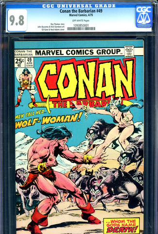 Conan the Barbarian #49 CGC 9.8  HIGHEST GRADED