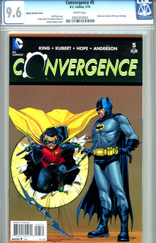 Convergence #5  CGC graded 9.6 - Opena Variant Cover
