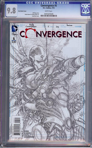 Convergence #5  CGC graded 9.8 - Reis Sketch Cover - HIGHEST GRADED - SOLD!